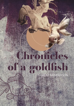 Gray Purple and Beige Chronicals of a goldfish book cover A5 Fish