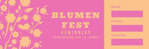 BLUMEN FEST  Eintrittskarte