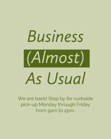 Green Minimal Business Announcement COVID-19 Re-opening