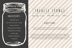 Treacle Sponge Mason Jar Recipe Card Dessert
