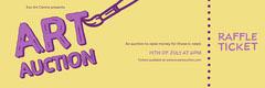 Yellow & Purple Art Auction Fundraiser Ticket Fundraiser