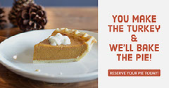 Warm Toned Thanksgiving Bakery Facebook Banner Ad Bakery