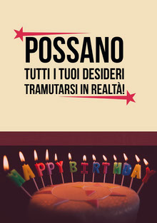 birthday candles birthday cards Biglietto di compleanno