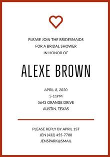 ALEXE BROWN  Wedding Invitation