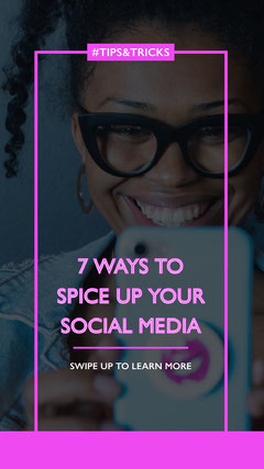 Pink Social Media Tips Instagram Story Social Media Flyer