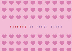 Pink With Hearts Friend Card Friends