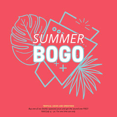 Red and Blue Summer Drink Restaurant Square Instagram Ad Bogo