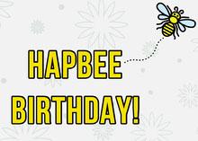 Yellow Bee Pun Happy Birthday Card Birthday Card