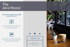 Pale Blue Cafe Brochure Cafe