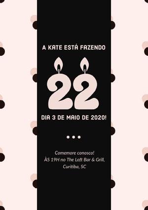 A Kate está fazendo  Convite de aniversário