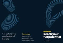 Blue Digital Solution Brochure Marketing