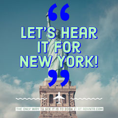 Let's hear it for New York! Vacation