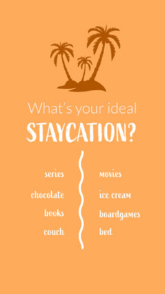Orange Ideal Staycation a this or That Instagram Story Ice Cream Social Flyer