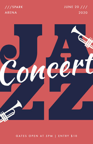 JA<BR>ZZ Concertposter