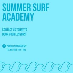 Blue Surf Academy Instagram Square Surfing