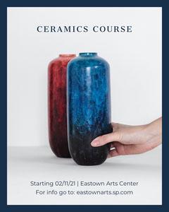 Grey Navy Ceramics Course Instagram Portrait  Educational Course