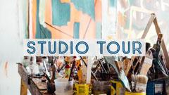 Blue Studio Tour Youtube Thumbnail Paint