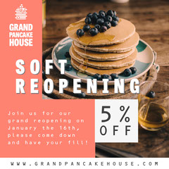 Grand Pancake House Instagram Square Discount