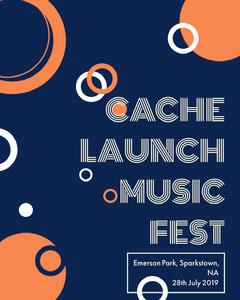 Orange White and Blue Music Festival Social Post Launch
