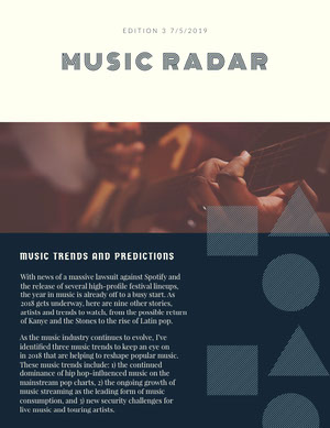 MUSIC RADAR Boletín