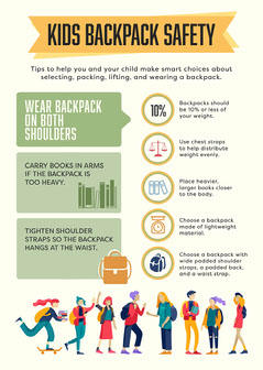 Kids Backpack Safety Flyer Education