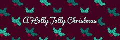holly jolly Christmas twitter banner Winter