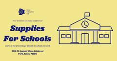 Blue & Yellow School Supply Fundraiser Facebook Post Fundraiser