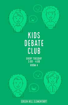 green student debate club poster School Posters