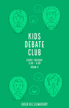 green student debate club poster After School