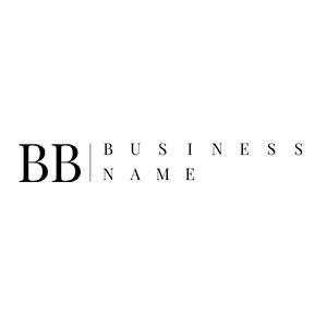 Black and White Business Logo Name Logo