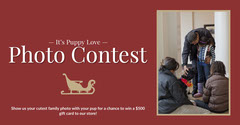 Red and Gold Christmas Photo Contest Facebook Banner Contest
