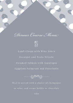 Grey and White Restaurant Menu Educational Course
