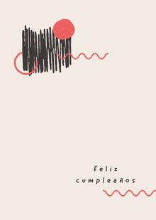 abstract and minimalist inspired birthday cards  Tarjeta de cumpleaños