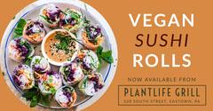 vegan sushi rolls Facebook  Plants