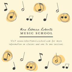 Yellow and Black Music Tutor Instagram Graphic Tutor Flyer