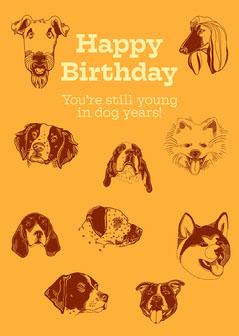 Happy Birthday Dog Flyer
