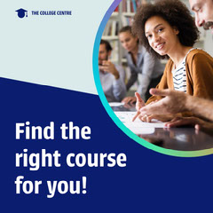 blue white college find the right course instagram square  Educational Course