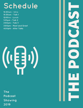 Blue and White The Podcast Flyer Veranstaltungs-Flyer