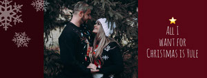 Christmas Facebook Profile Cover with Couple Christmas Facebook Cover
