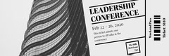 Gray Skyscraper Business Leadership Conference Event Ticket Event Ticket