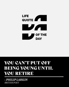 Black and White Quote of the Day Instagram Portrait  Typography