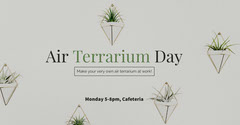 Light Toned Air Terrarium Day Event Facebook Banner Event Banner