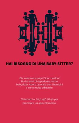 Hai bisogno di una baby-sitter? Volantino