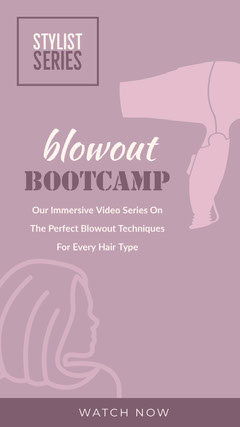 Violet and White Bootcamp Instagram Story Hair Salon