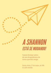 A Shannon está se mudando! Convite