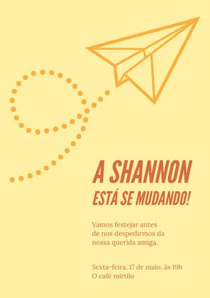 A Shannon está se mudando! Convite para festa