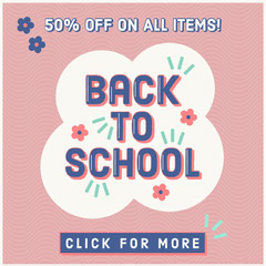 back to school sale igsquare  Back to School