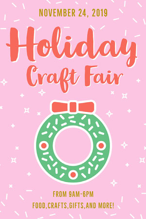 Pink Holiday Craft Fair Pinterest Ad Flyer Pink Flyers