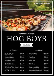 HOG BOYS  BBQ Menu