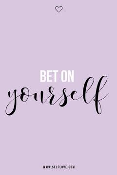 Purple Bet On Yourself Pinterest Post Heart